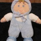 Just Friends Blue Plush Doll with a rattle inside