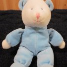 Russ Baby Bear in Blue Velour Rattle Toy
