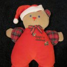 A D Sutton Babys 1st Christmas Bear Plush Rattle toy