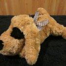 Walmart Tan Plush Puppy Dog with black Eye and nose