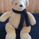 Pottery Barn Tan Bear with Black Scarf