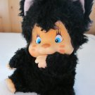 Vintage Monchichi Chic a Boo Nyamy 1979 Washino Plush  Black Kitten named Felina