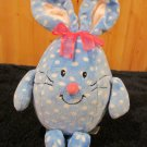 Commonwealth Blue Egg Bunny Rabbit with white spots Plush Toy