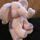 Russ Berrie Plush Pink Elephant named Ella Rattle Toy 24730