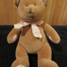 Russ Baby Soft Plush Tan My First Bear Rattle Toy