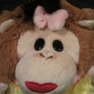 "MushaBelly Chatter Monkey Lila 8"" Plush Jay at Play"