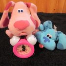 Three Blues Clues Toys Tick tock Clock Blue and Magenta