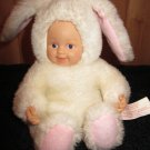 Anne Geddes Baby Bunnies White Doll in Bunny Rabbit Suit