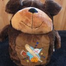 KellyToy Brown Puppy Dog Plush Decorative Pillow Toy and Blanket