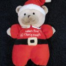 Just One Year Carters Tan Bear in Santa Suit Baby's First Christmas