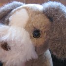 "Avon Plush Brown White Dog Named My Puppy 1986 12"" Vintage Cuddle Tag Collar"