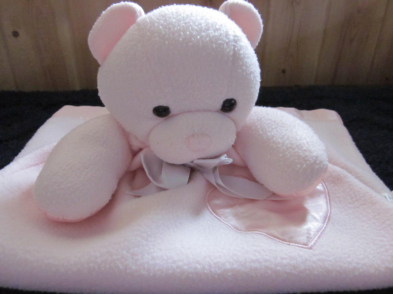 Dakin Pink Bear Security Blanket Gown Style Lovey