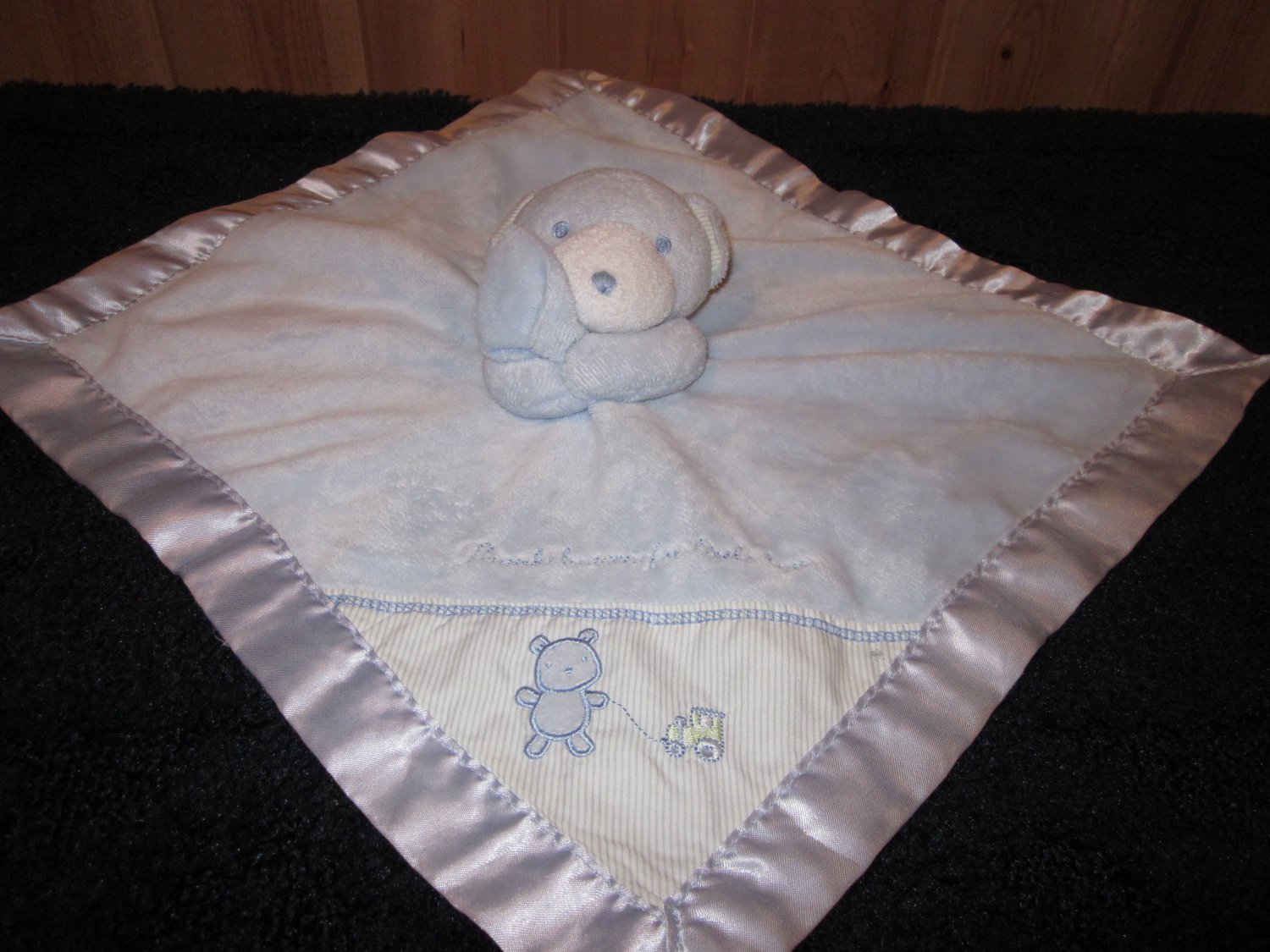 Just One Year Blue Bear Lovey Security Blanket By Carters
