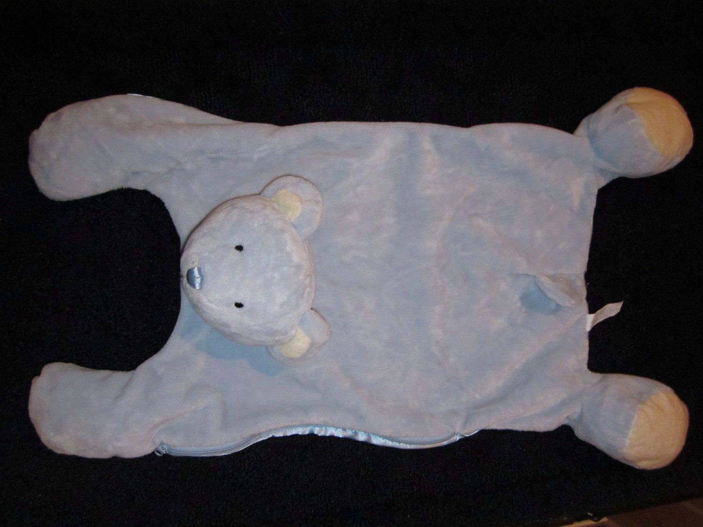 WishPets Plush Blue Teddy Bear Security Blanket Lovey PJ Bag