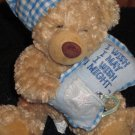 Bedtime Wish Bears Tan Bear with Blue Pillow with a star in it