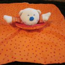 HABA White Bear Orange with red polka dots Security blanket