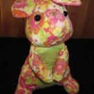 Douglas Plush Bunny Rabbit Flower Print Quilted material