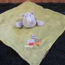 Carters OS Grey Rhino Green Security Blanket Rhinoceros Best Friends