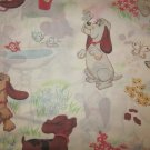 Vintage 1980's Pound Puppies Twin Size Flat Sheet