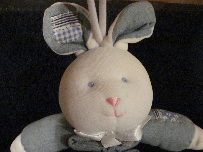 First Peek Plush  Bunny Rabbit Musical Crib Toy Lovey
