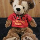 "Disney Bear Pre Duffy Hidden Mickey with Red NYC Shirt and 2006 Plush 15"" Bear"