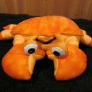 Moshi Round Orange Crab Microbead Plush Lovey Pillow