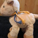 Animal Alley Plush Pink Pig with tan feet and orange and blue tie