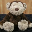 JellyCat Brown Plush Monkey Tan feet and face