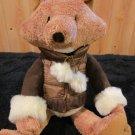 Bath & Body Works Plush Fox Named Hickory wears a jacket