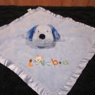 Child of Mine by Carters Blue Lovey Puppy Dog Security Blanket with Rattle