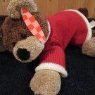 Animal Adventure Plush Bear wears Red Sweater lays flat
