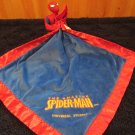 Spiderman Blue and Red Security Blanket with plush figure