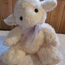 Caltoy Plush Fluffy Lamb with lavender organza bow Floppy Style