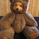Applause 1988 Robert Raikes Wood Face Plush Brown Bear named Terry #17010