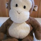 TY Pluffies Monkey Named baby Dangles Plush Lovey