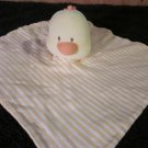 Mamiye Bros Duck or baby Chick Yellow and orange Striped Security Blanket lovey