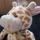 Animal Alley Plush Giraffe with leopard print bow tie