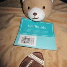Tiddliwinks Tan Bear and Football Security Blanket 'future all star collection'