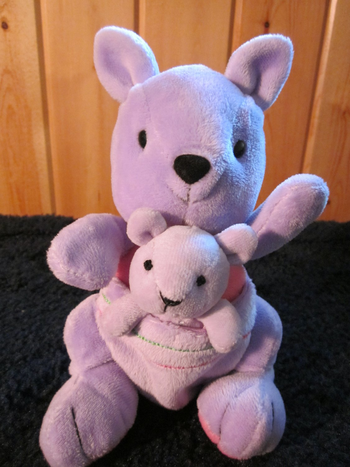 Child of Mine Purple Lavender Kangaroo with baby in pouch