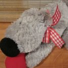 North American Bear Co Plush Grey Dog Named Ollie Musical Pull Toy