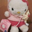 Sanrio 1997 Hello Kitty Plush holding yellow teddy bear
