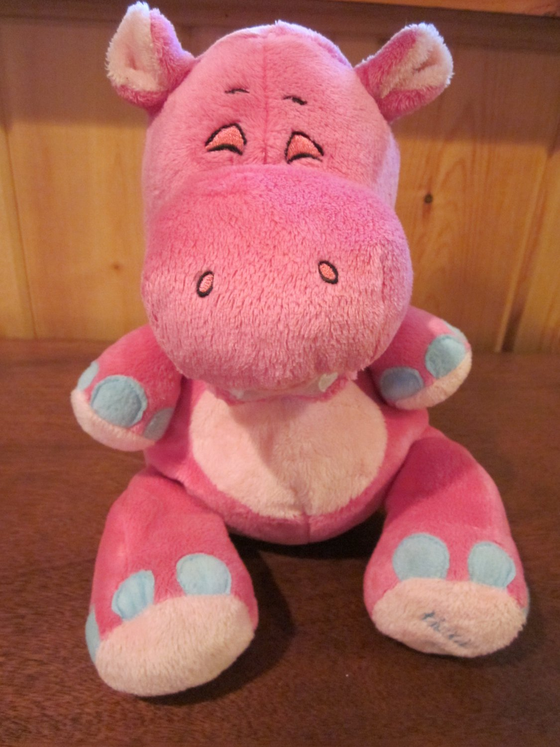 Tickle Toes Pink Hippo by Luv n' Care Plush Laughing Giggling Toy