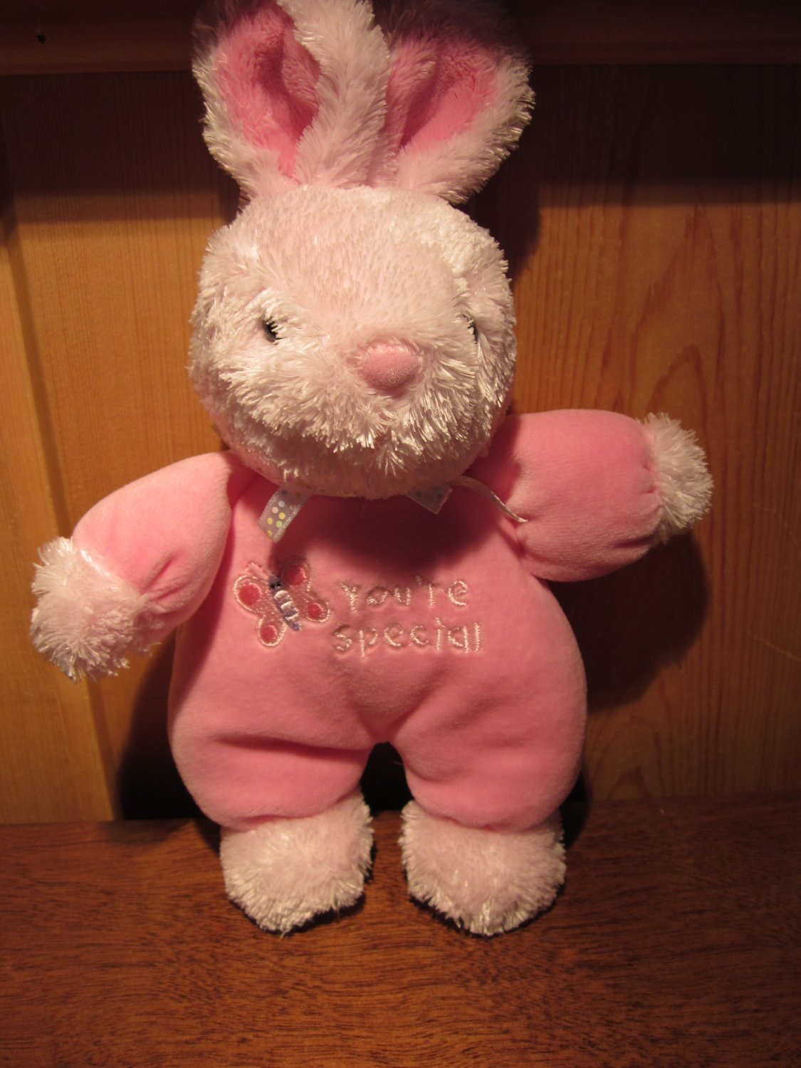 Carter's Just one year Plush Pink Bunny Rabbit You're Special