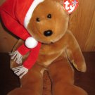 1997 Holiday Teddy from Ty Beanie Buddy with heart tag