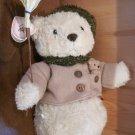 Enesco Cherished Teddies Buddy Plush Teddy Bear Snowman with broom