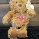 New Hallmark Plush Bear named Patches Shoebox Toy that Giggles