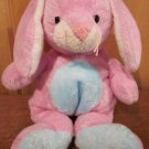 Ty Pluffies Pink and blue rabbit named Twitchy