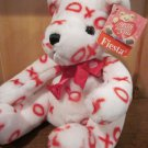 Fiesta White bear with Red XOXO Valentine Plush Toy With store tag