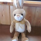 Okie Dokie Plush Tan and white Rabbit with long tall ears