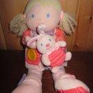 Carters Plush Doll Blonde Teach me zips, button buckle wears Hoodie